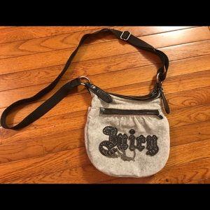 Stylish crossbody velour bag